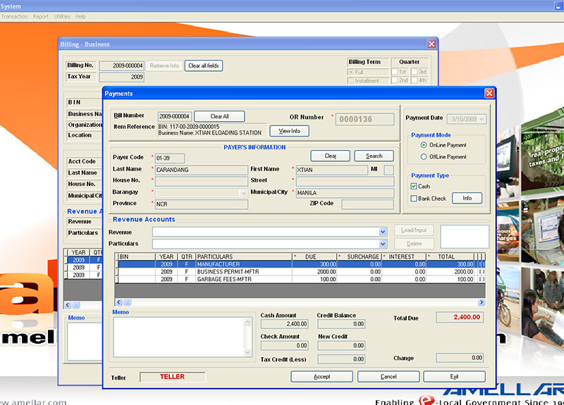 Arcs Amellar Revenue Collection System Amellar