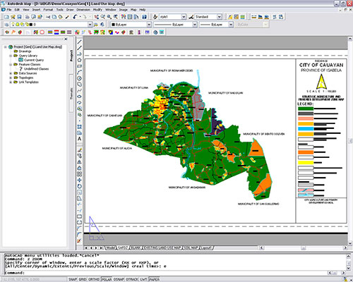 Cauayan City's digital Strategic Agriculture and Fisheries Development Zone Map created using the combined features of Amellar GIS.