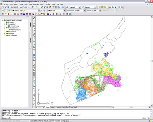 Dagupan City's digital tax maps generated utilizing Amellar GIS's customized utility for digital parcel mapping.