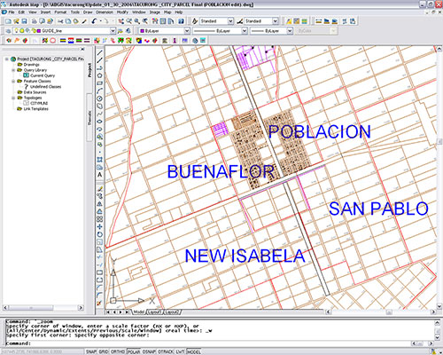Tacurong City's poblacion area with all the digital parcels generated from the easy-to-use tool for parcel mapping provided by Amellar GIS.