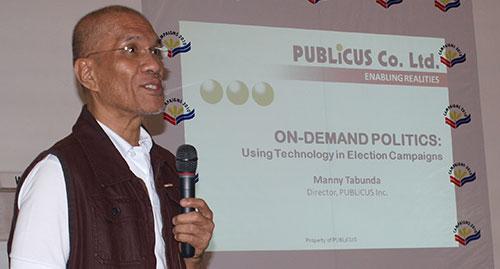 campaigns09 10212009 2 Manny Tabunda Talks about On Demand Politics at Campaigns 2010 Seminar Series