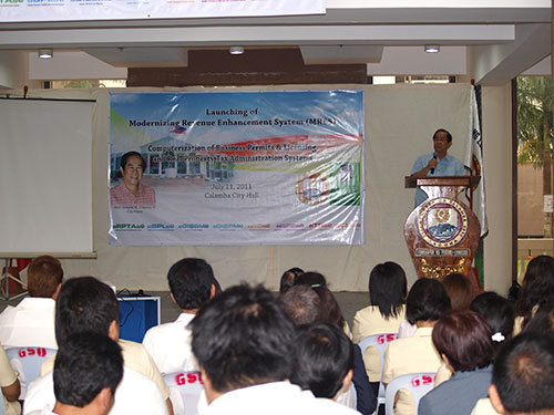 calamba mres launch 11 Calamba Embarks on a Computerized Project with Amellar